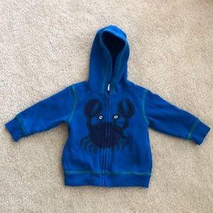Gymboree full zip hoodie 12-18mos